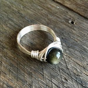 Jewelry - Golden Obsidian Ring